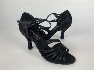 Stephanie Black Satin