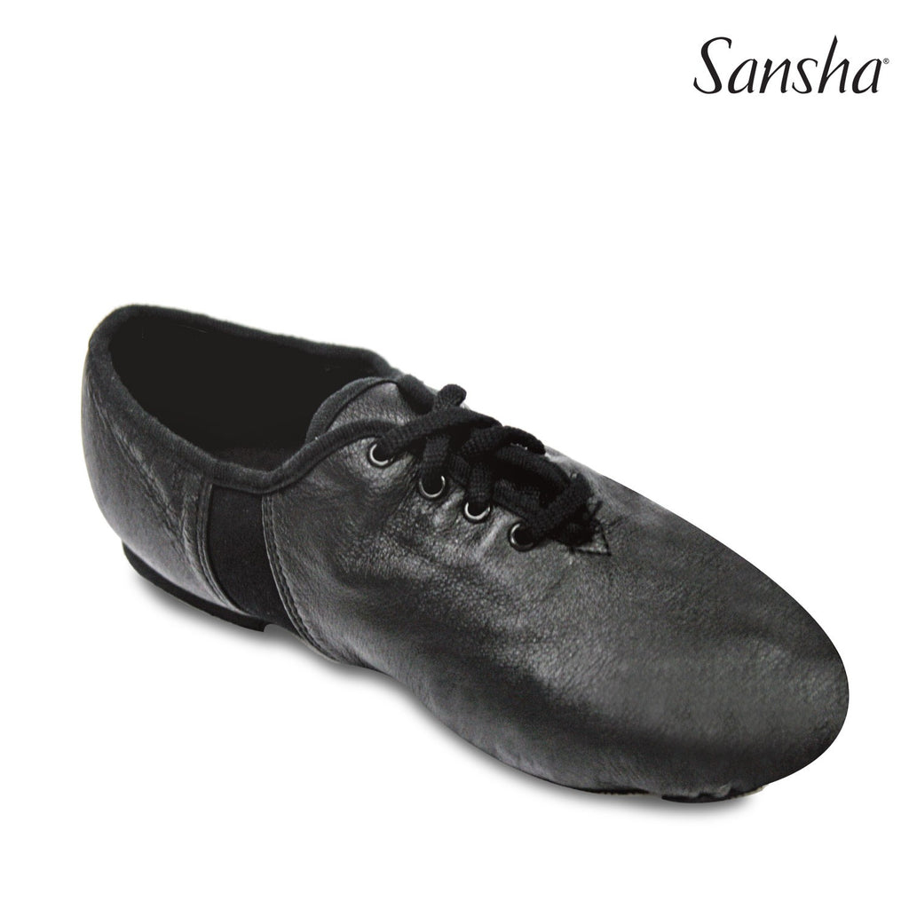 Sansha Leather Tivoli Lace-Up Jazz Shoe