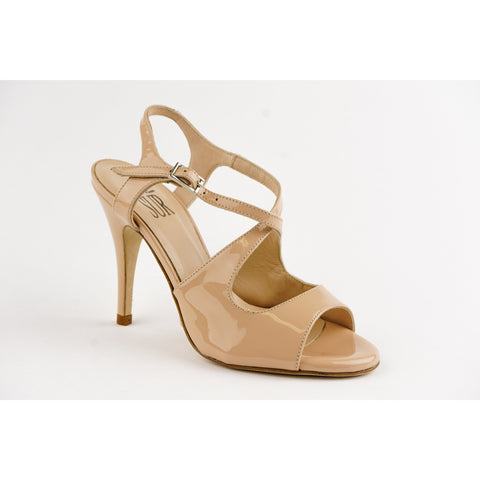 Sur Patent Leather Vernice Nude Dita Tango Shoe- REDUCED