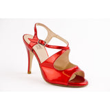 Sur Patent Leather Vernice Red Dita Tango Shoe