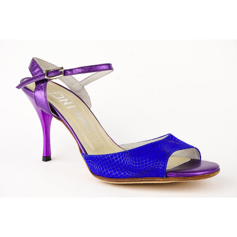 DNI Violet and Blue Ema Tango Shoe