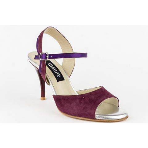 Ser Violet and Silver Tango Shoe