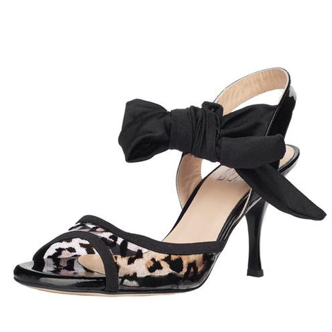 Sur- Paloma with Clear Leopard Print and Black 7cm