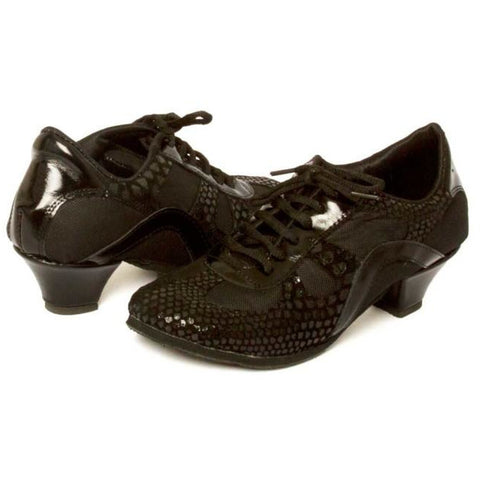 Black Night Leather DNI Rocio Tango Shoe 8507