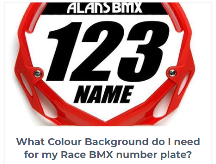 Race Number Plates and Numbers Advert Image