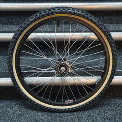 Diamond Back Raleigh Wheels with fitted Tioga Comp III Skinwall Tyres and Freewheel Pair