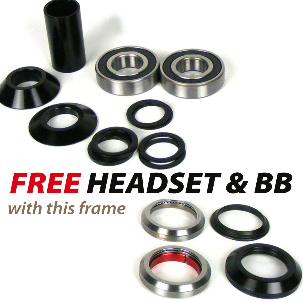 BMX Frames with Free Headset and Bottom Bracket Advert Image