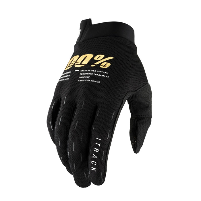 100 Percent Protection Black / Small 100% iTrack Kids Gloves