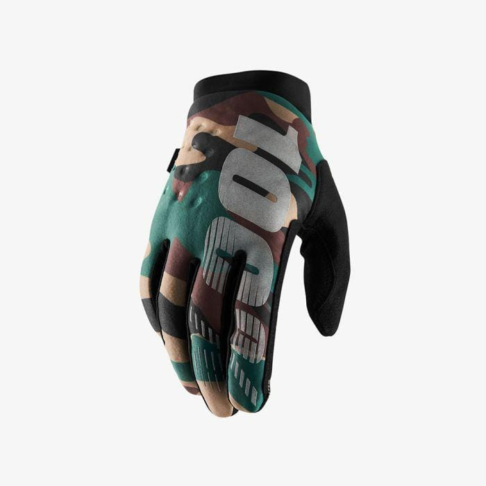 100 Percent Protection 100 Percent Brisker Gloves Camo