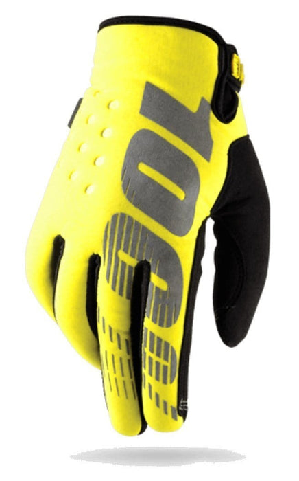 100 Percent Protection 100 Percent Brisker Gloves Yellow