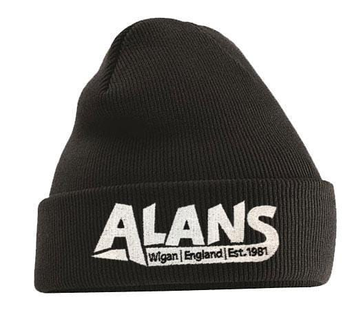 Alans BMX Clothing & Shoes Black Alans Crew Knitted Cuff Beanie