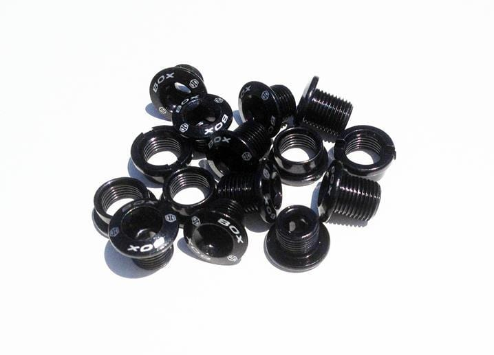 Box BMX Racing Box Spiral Chainring Bolt Kit Black