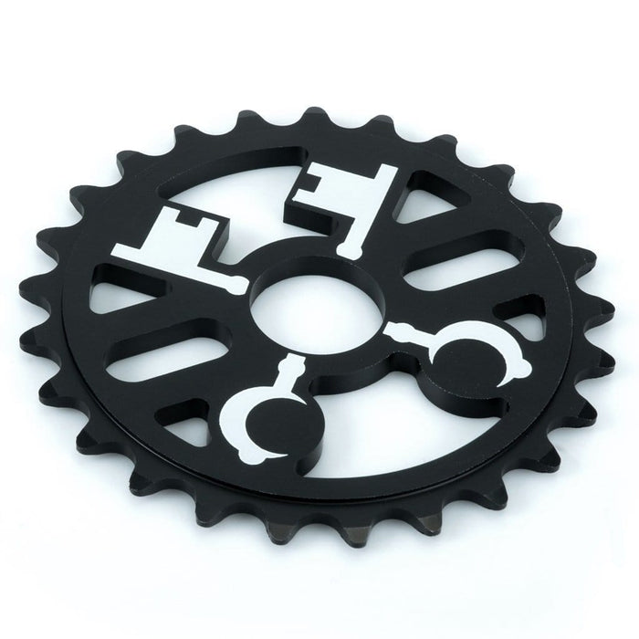 Cryptic BMX Parts Cryptic Cross Keys Sprocket Black 25 Tooth