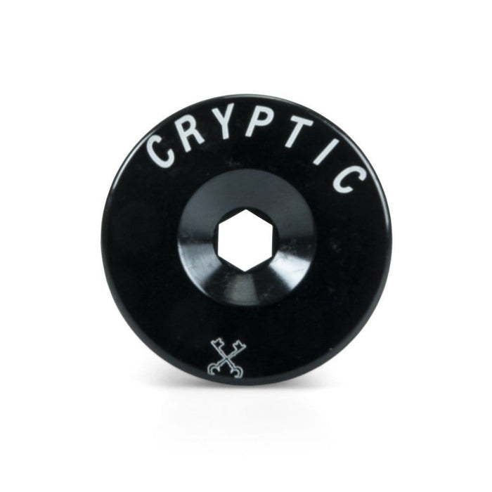 Cryptic BMX Parts Cryptic Enigma Fork Top Cap Black H24