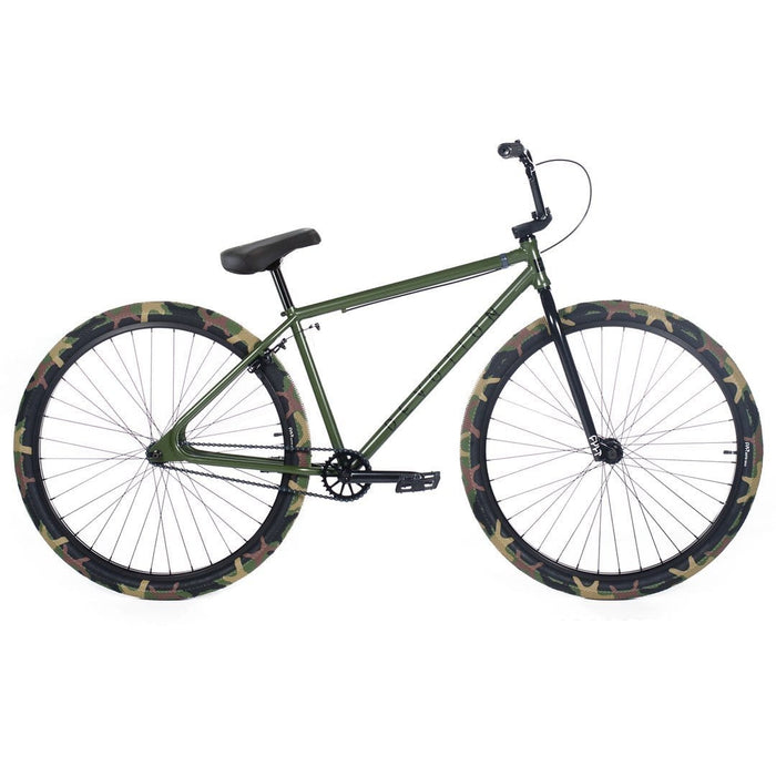 Cult BMX Bikes Cult 2020 Devotion A 29 Inch Bike Olive Green with Camo Tyres