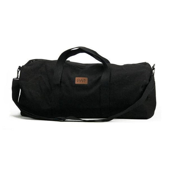 Cult Clothing & Shoes Cult Leather Patch Duffle Bag Black