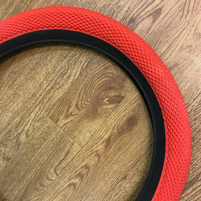 Cult BMX Parts Cult x Vans 2.35 Tyre Red with Black Sidewall