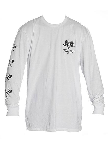 Demolition Clothing & Shoes Demolition Ram Long Sleeve T-shirt White