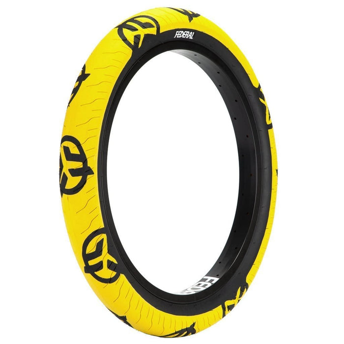 Federal BMX Parts Federal Command LP 2.40 Tyre Yellow With Black Logos And Sidewall