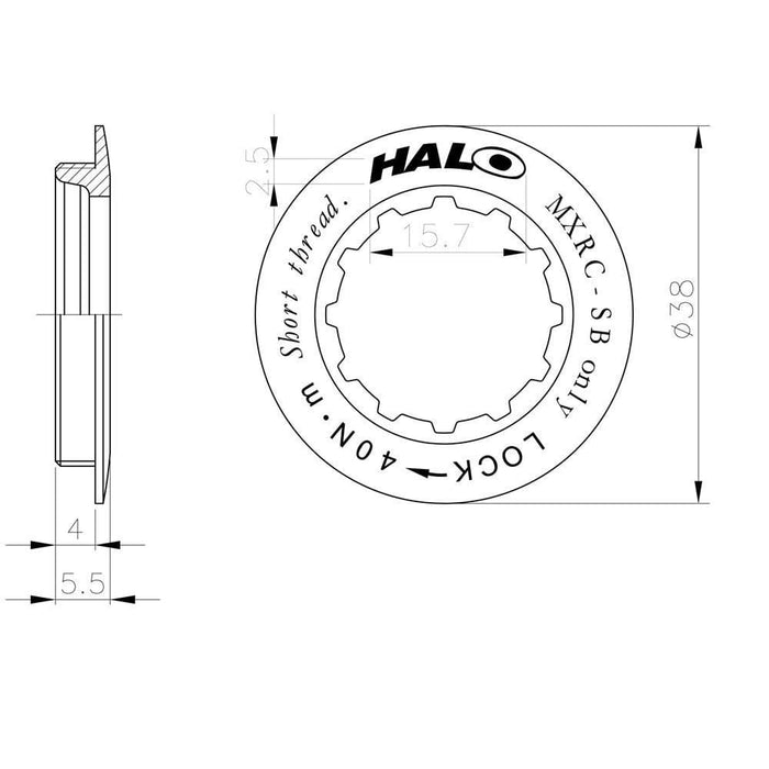 Halo BMX Racing Halo MXRC Cassette Lockring