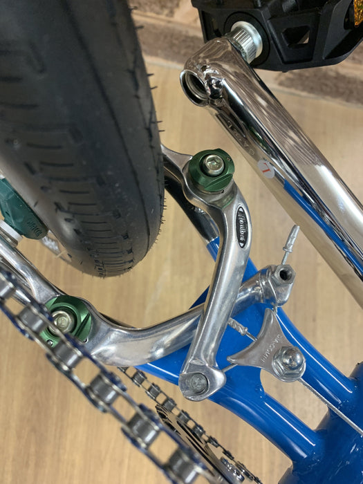 Haro Old School BMX Haro 1988 Vintage Sport Custom Bike Blue/Black/Chrome