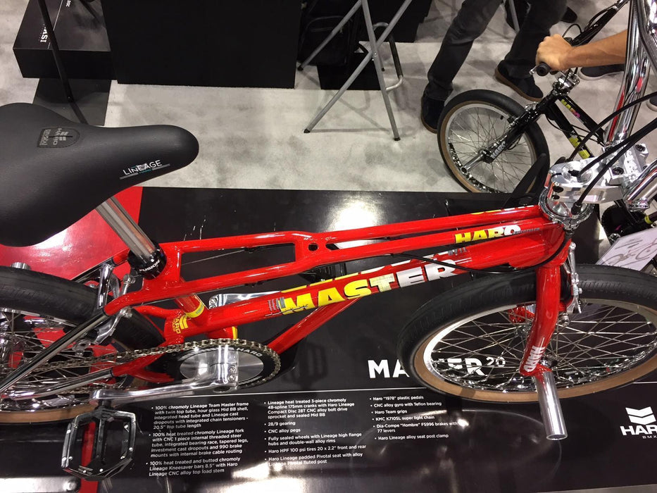 Haro Old School BMX Haro 2019 Lineage Bashguard Team Master 20.75 Bike Red with Skyway Tuff Mags