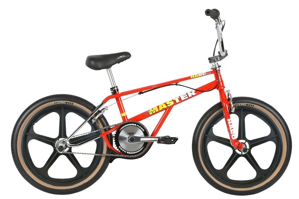 Haro Old School BMX Haro 2019 Lineage Bashguard Team Master 20.75 Bike Red with Skyway Tuff Wheels