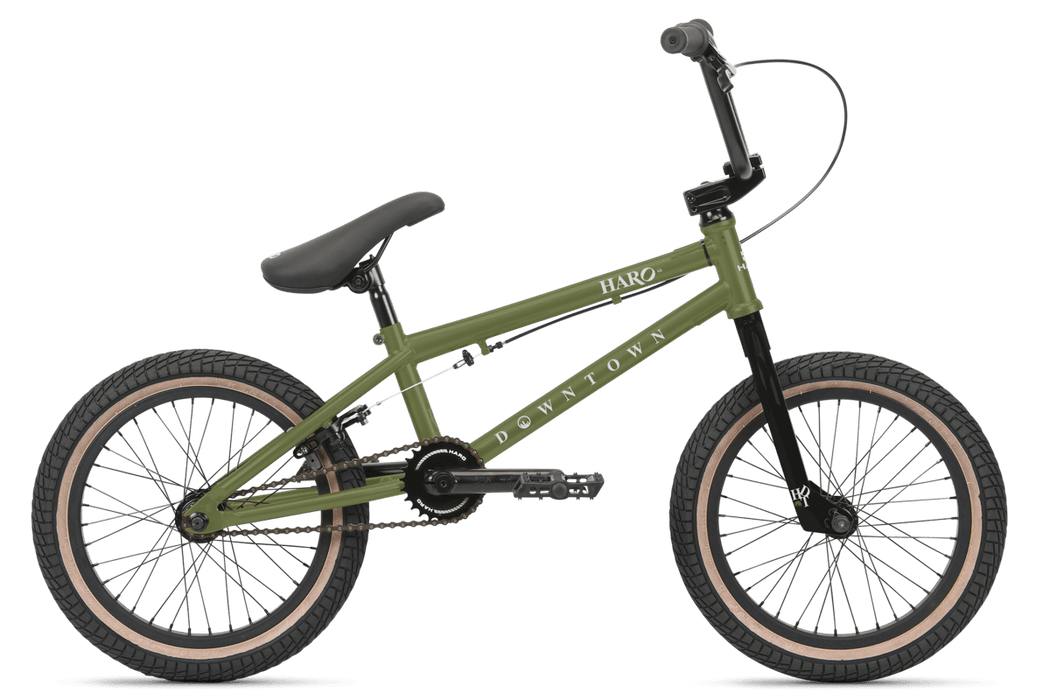 Haro BMX Bikes Haro 2021 Downtown Bike Matte Army Green