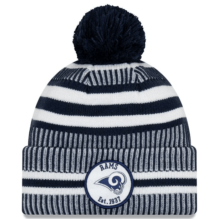 New Era Clothing & Shoes Los Angeles Rams Home New Era 2019-20 NFL Sideline Sport Knit Beanie Navy
