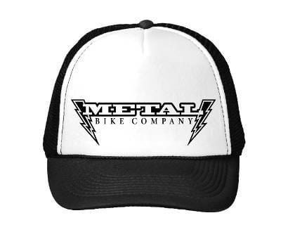Metal Bikes Clothing & Shoes Metal Bikes Lightning Bolt Trucker Cap Black/White