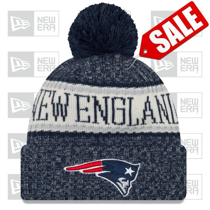 New Era Clothing & Shoes New England Patriots NFL 2018-19 Sideline Knit New Era Pom Beanie