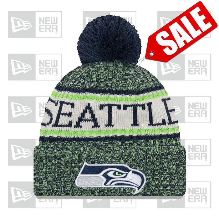New Era Clothing & Shoes NFL 2018-19 Sport Seattle Seahawks New Era Pom Beanie
