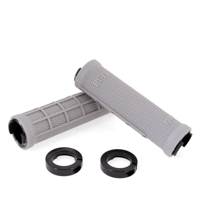 ODI BMX Parts ODI Soft Pro Compound Ruffian MX Lock-On Grips Grey