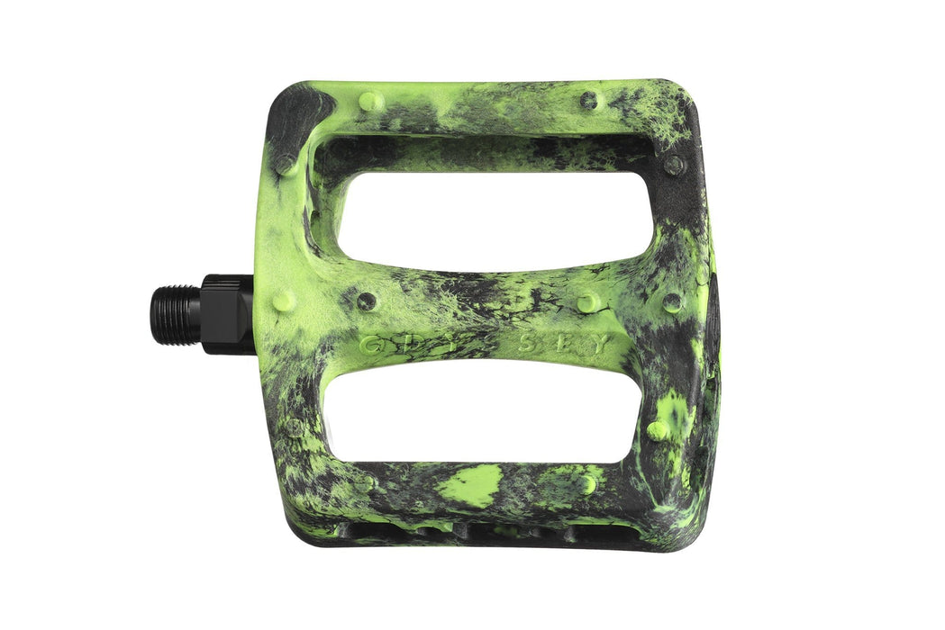 Odyssey BMX Parts Odyssey Twisted Pro PC Pedals Black/Green Swirl