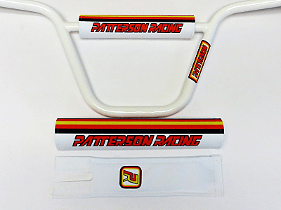 Flite Old School BMX Patterson Racing x Flite Pad Set White