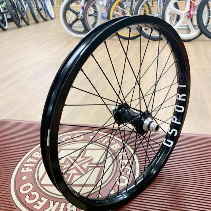 Profile BMX Parts Profile Racing Mini/G-Sport Birdcage Custom Front Wheel Black
