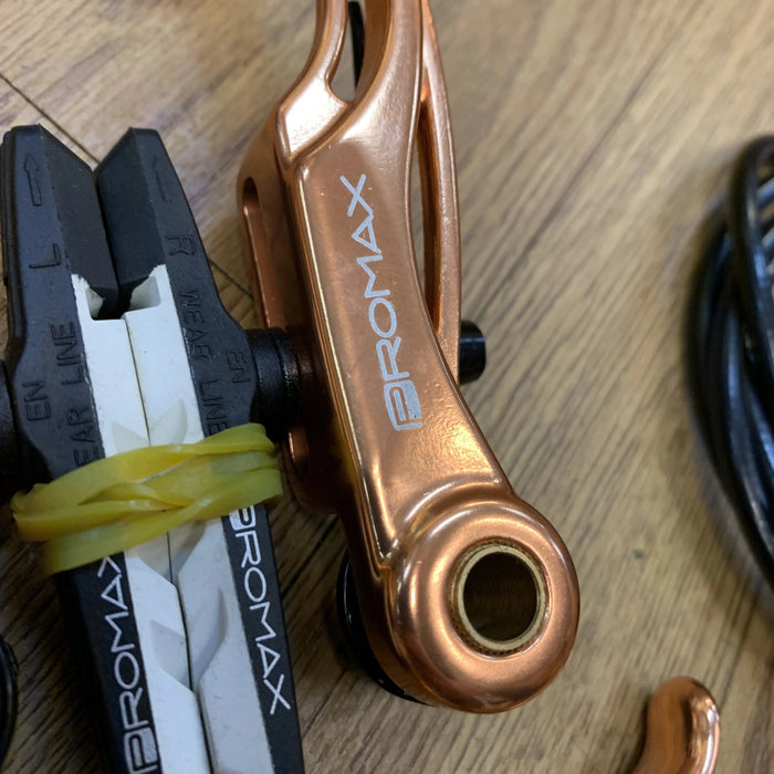 Promax BMX Racing Promax V-Brake Kit with Cable and Lever Copper