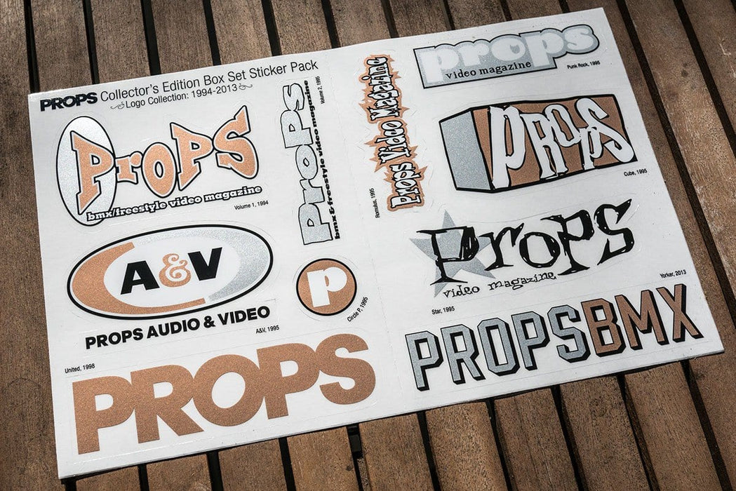 Props Misc Props Collector's Edition Box Set Sticker Sheet