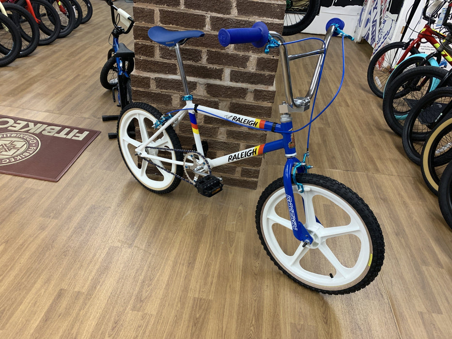 Raleigh Old School BMX Raleigh Mk2 Burner Team Custom Bike White/Blue