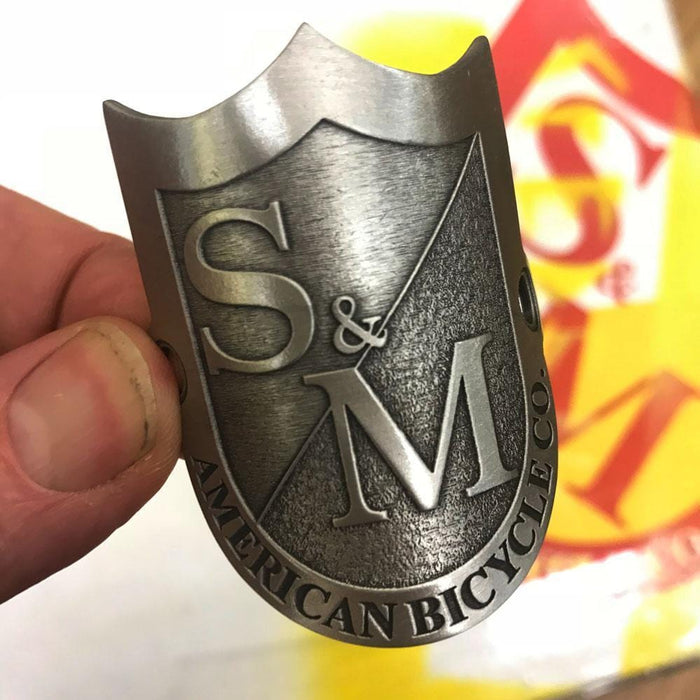 S&M Misc S&M Bikes Shield Frame Headtube Badge