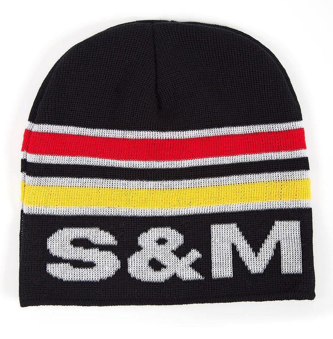 S&M Clothing & Shoes S&M Retro Beanie Black/Red/Yellow