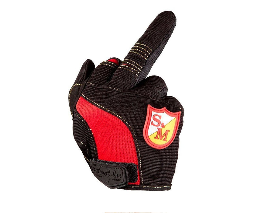 S&M Protection S&M x Biltwell Shield Gloves Black/Red