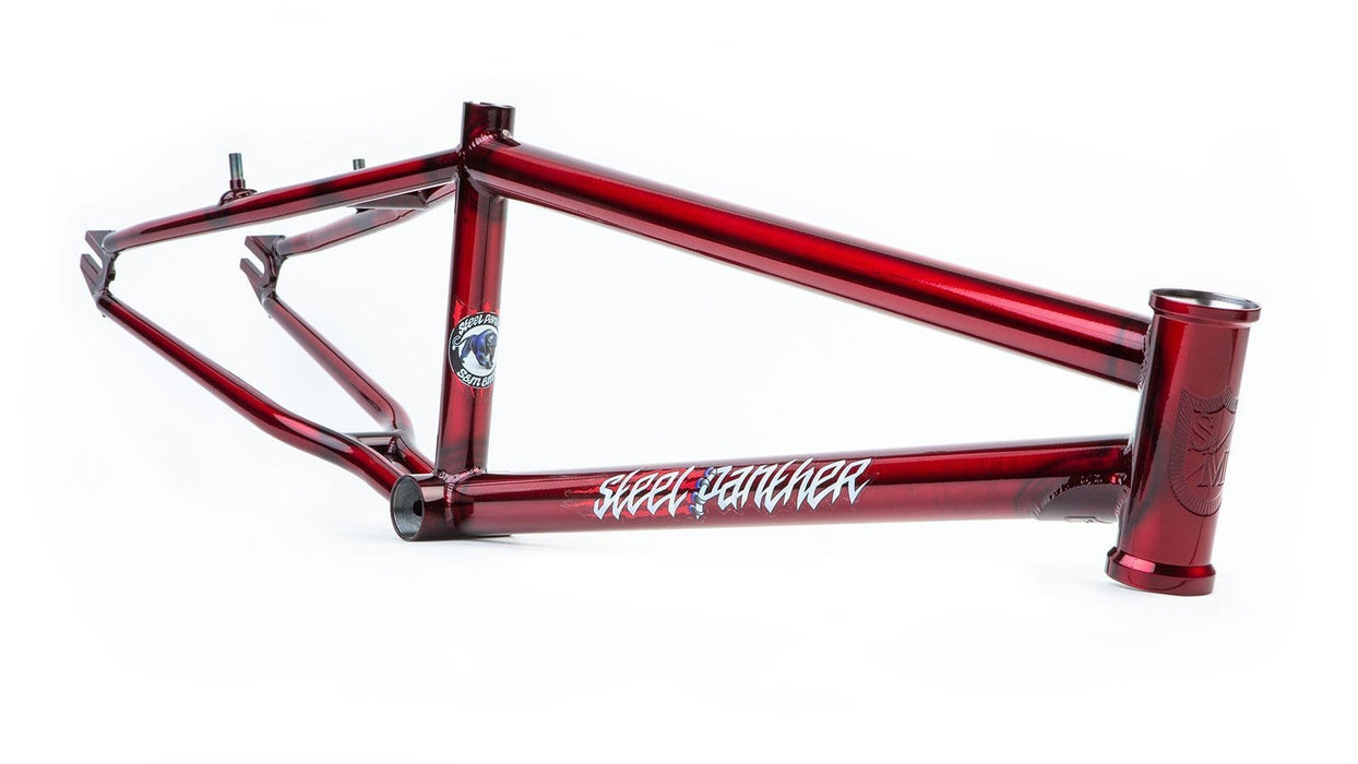 S&M BMX Racing S&M Steel Panther Race Frame Trans Red