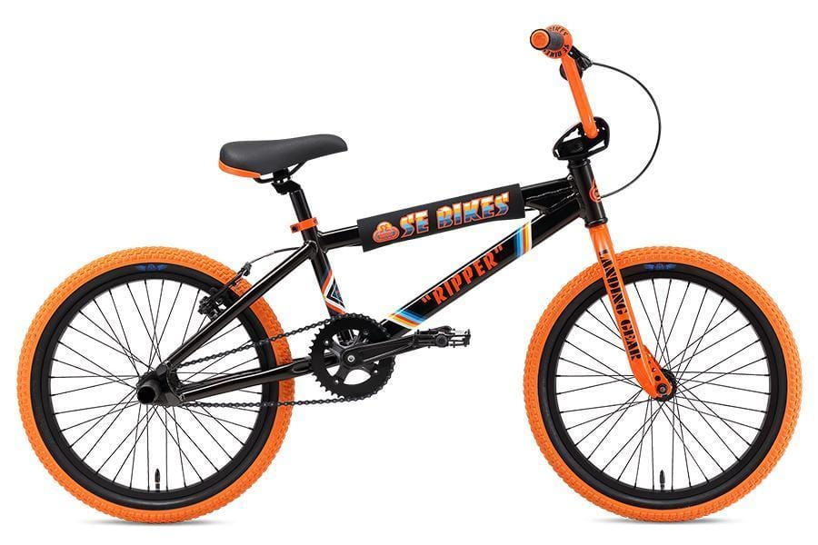 SE Bikes BMX Bikes SE Bikes 2019 20 Inch Ripper Bike Black/Orange