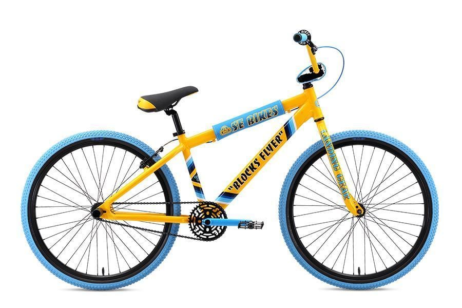 SE Bikes BMX Bikes SE Bikes 2019 Blocks Flyer 26 Inch Bike Yellow