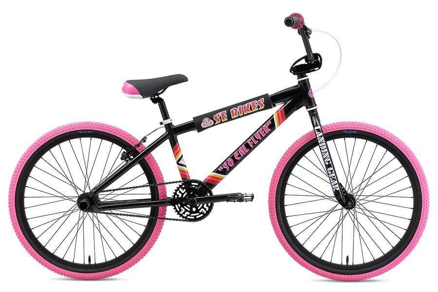 SE Bikes BMX Bikes SE Bikes 2019 So Cal Flyer 24 Inch Bike Black/Pink
