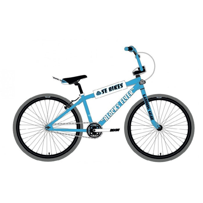 SE Bikes BMX Bikes SE Bikes 2020 Blocks Flyer 26 Inch Bike Blue