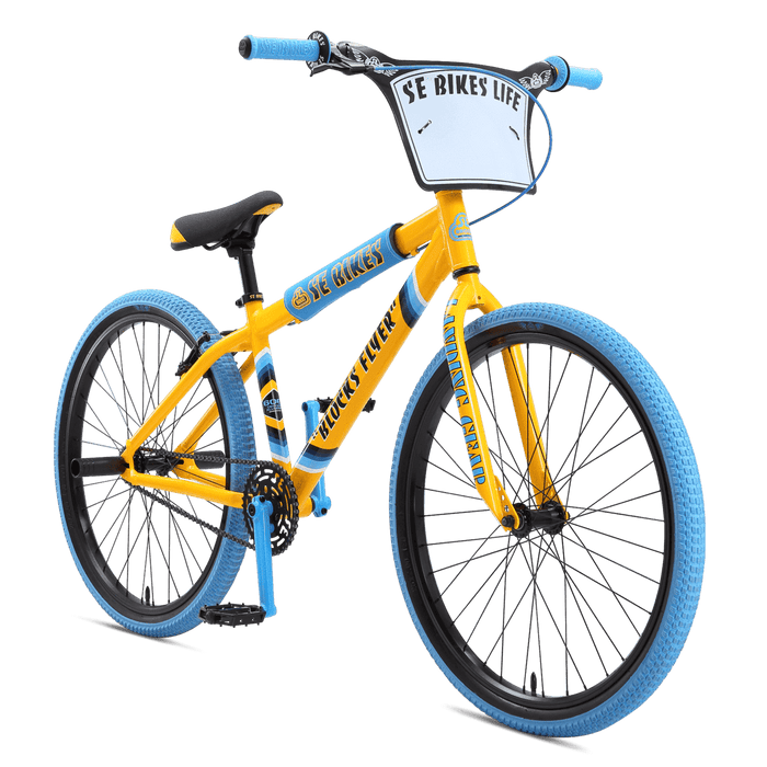SE Bikes BMX Bikes SE Bikes 2020 Blocks Flyer 26 Inch Bike Yellow