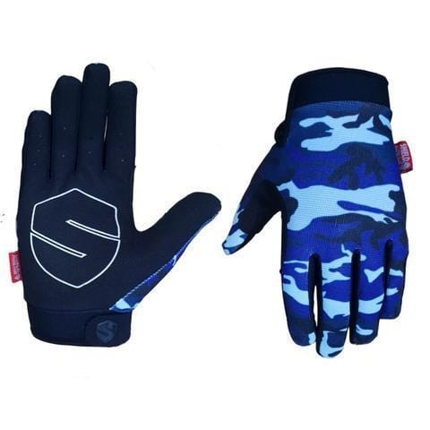Shield Protection Shield Protectives Full Finger Gloves Blue Camo