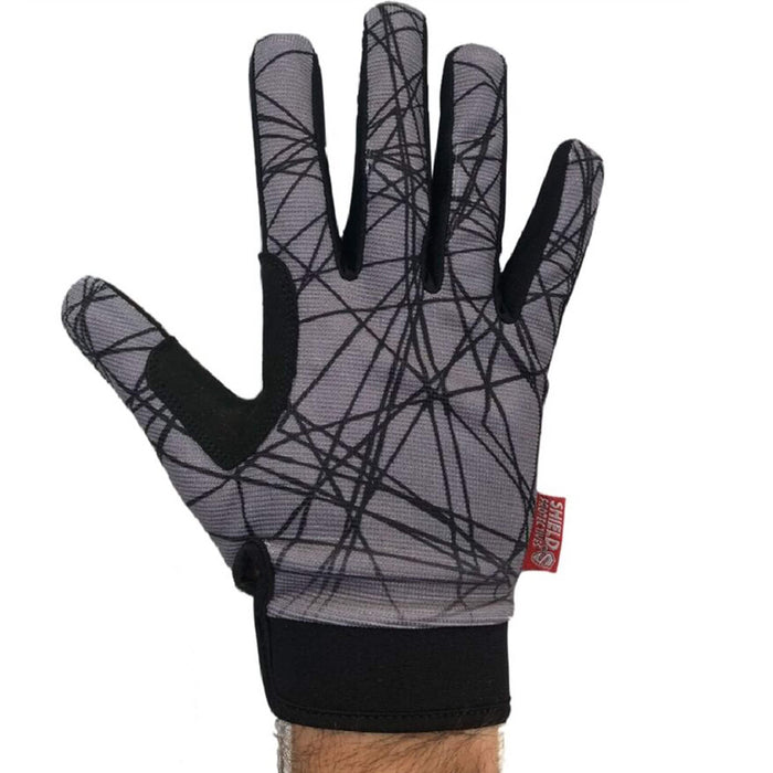 Shield Protection Shield Protectives Full Finger Gloves Grey/Black